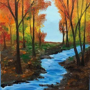 autumn stream fall