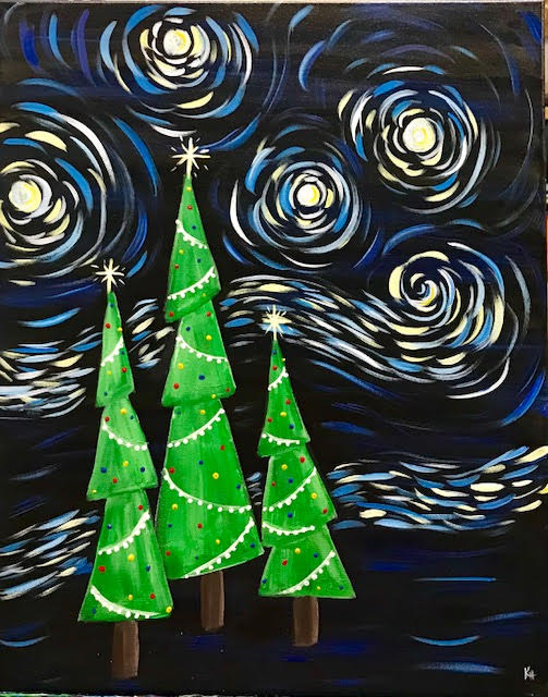 starry christmas paint event 12818 - Starry Christmas