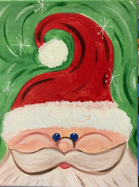Christmas Paintings For Kids.Santa Christmas Kids Art In Mind
