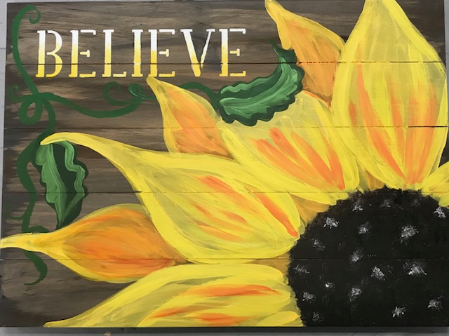 Sunflower Board Art