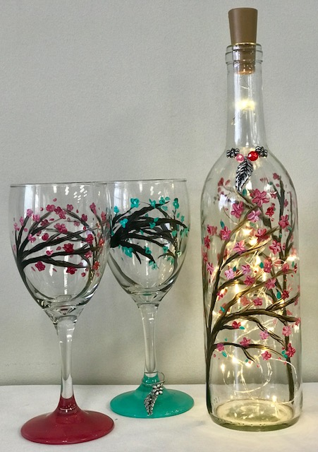 Spring Light-up Wine Bottle Set