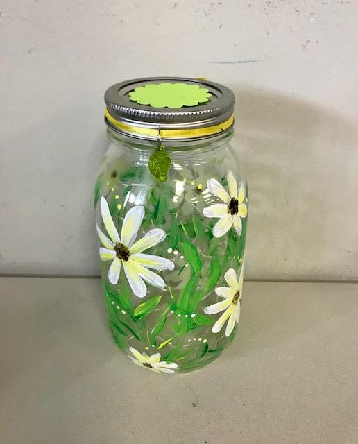Daisy Light-up Jar