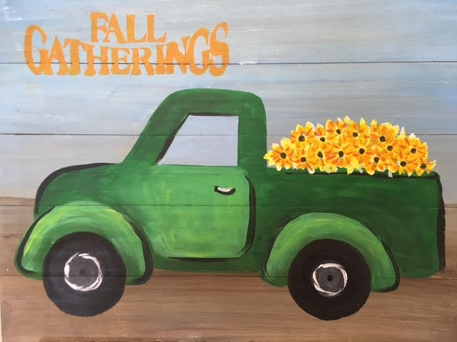Fall Gatherings Board Art